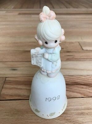 Precious Moments 527726 But The Greatest One Of These Is Love Bell Figurine Girl