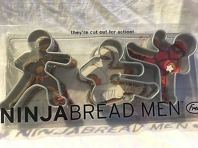 Ninja Bread Men Gingerbread Cookie Cutter Fred and Friends Set Of 3