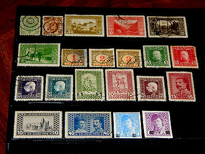 Bosnia stamps - 21 mint hinged and used early stamps - super !!
