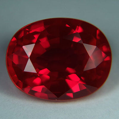 12.30ct.AWESOME BLOOD RED RUBY OVAL LOOSE GEMSTONE