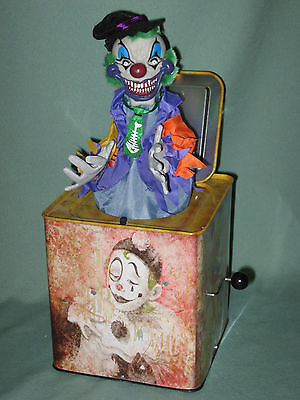 Atico Creepy Haunted Jack in the Box Scary Clown Complete Working