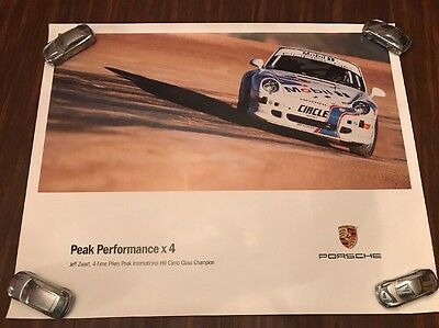 Porsche 911 993 Pikes Peak Performance X4 Victory Showroom Advertising Poster
