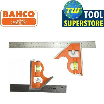 Bahco CS150 CS300 Combination Square Set 6in 150mm & 12in 300mm Twin Pack