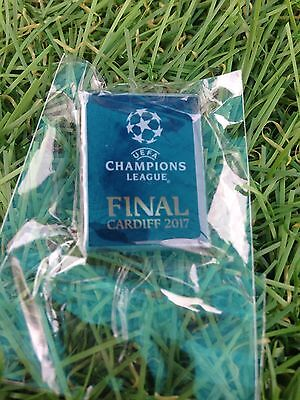 UEFA Champions League Final Finale Cardiff 2017 Pin Badge Juventus Real Madrid
