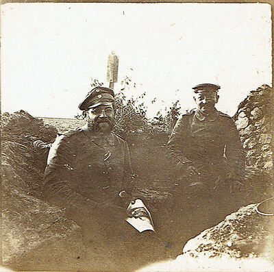 WW1 Original Photograph  German Soldiers in Trench