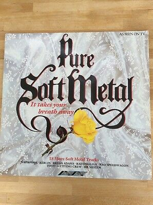 Pure Soft Metal Compilation LP Album Vinyl Record SMR996 Soft Rock 80's