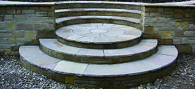 Indian Sandstone Patio Paving Circle Kit 4 colours Flags Garden Pavers - 3 Sizes