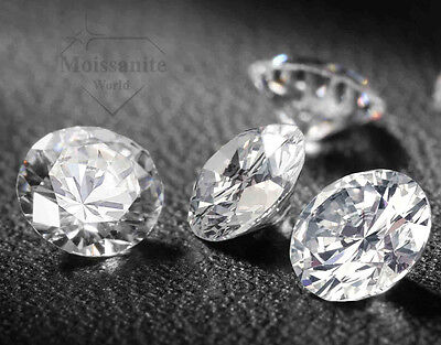 Loose moissanite Stone G-H Color 3.00 mm-8.50 mm Round Brilliant Cut VVS1 White