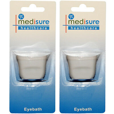 Medisure Eye Bath Twin Pack, Eye Contaminant Plastic Washing Cup, Contoured Fit
