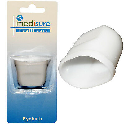 Mediusure Healthcare One Size Plastic Eyewash Pain Relieve Cleaning Eye Bath Cup