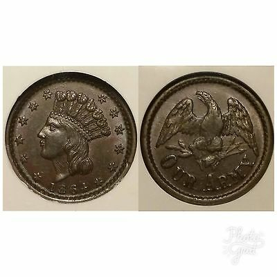 1864 Civil War Token F-55/162a Our Army NGC MS 63 BN