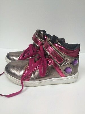 Girls Lelli Kelly Trainers Size EU 31 / UK 12.5 Silver & Pink