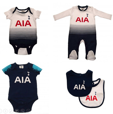 Tottenham Hotspur Baby 2018/19 Kit Design Kit Baby grow Sleepsuit Vest Spurs New