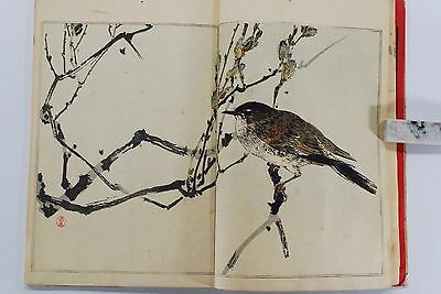 ORIGINAL SEITEI WATANABE KACHO GAFU Bird & Flowers Japanese Woodblock Print Book