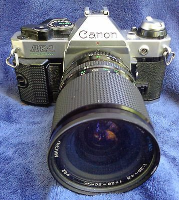 Vintage Canon AE-1 Program 35mm Film Camera Japan With Case Untested