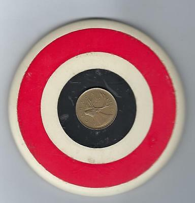 Vintage  1969 Canadian Quarter  Bullseye One Of A Kind  Pinback Button