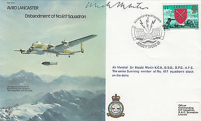 1981 AVRO LANCASTER 617 SQDN DISBANDMENT RAF B30 FDC -Signed by Mick Martin