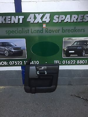 Land Rover Discovery 4 O/s/f Drivers Front Door Card (Black Leather)