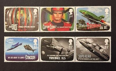 GB mint stamps - 2010 Gerry Anderson, Thunderbirds , SG3136/3141, MNH