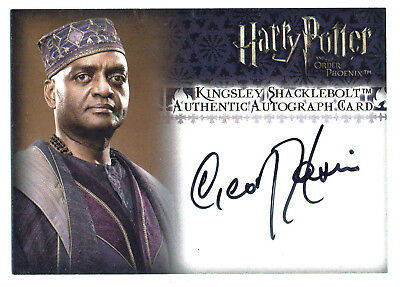 Harry Potter Order of the Phoenix Auto Card George Harris Kingsley Shacklebolt