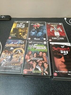 Job lot of 6 WWF vhs Year 2000 and 1 DVD