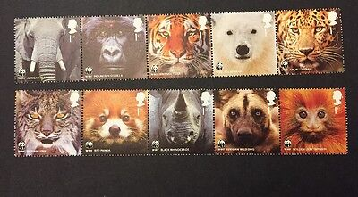 SG3162a & 3167a [2011] GB 50th ANNIV OF THE WWF Stamps Set Strips Of 5 MNH