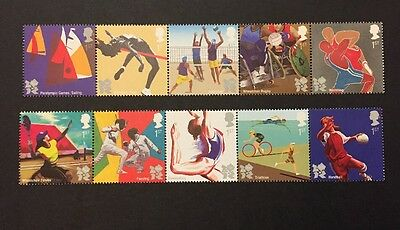 2011 GB Stamps MNH SG 3195-3204 Olympics and Paralympics Games. London 2012