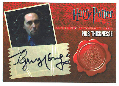 Harry Potter Deathly Hallows Part 1 Autograph Card Guy Henry as Pius Thicknesse
