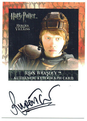 Harry Potter Heroes & Villains Autograph Card Rupert Grint as Ron Weasley RARE