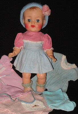 Vintage 1950s Ideal BETSY WETSY DOLL w/13 Clothes & Accessories