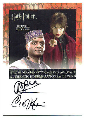 Harry Potter Heroes & Villains Auto Natalia Tena & George Harris Tonks Kingsley