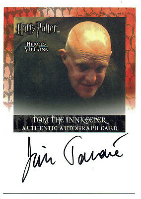 Harry Potter Heroes & Villains Autograph Card Jim Tavare as Tom The Innkeeper