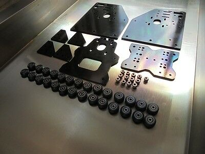 Ox Cnc Router Gantry Plates + 28 Xtreme Solid V Slot Wheels 13 Eccentric Spacers