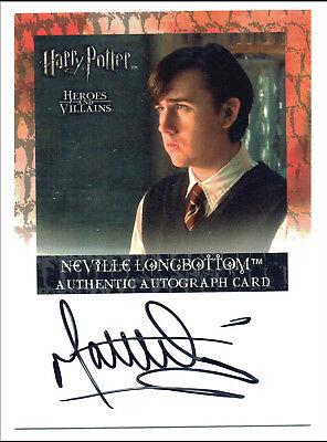 Harry Potter Heroes & Villains Autograph Card Matthew Lewis Neville Longbottom