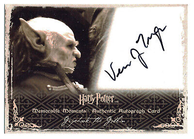 Harry Potter Memorable Moments S2 Autograph Verne Troyer as Griphook the Goblin