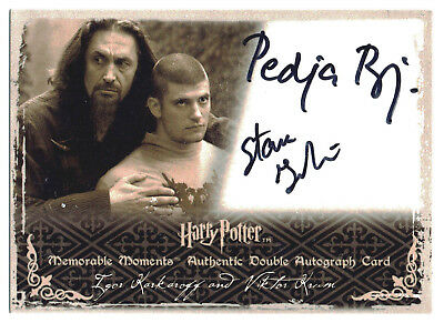Harry Potter Memorable Moments S2 Dual Auto Card Pedja Bjelac Stanislav Ianevski