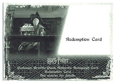 Harry Potter Memorable Moments S2 Autograph Redemption Apple Brook Grubbly Plank
