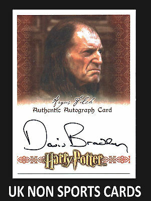 Harry Potter World Of 3D Series 1 Autograph Card David Bradley as Argus Filch