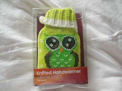 Kids/ladies kintted reusable handwarmer, owl design, new, boxed