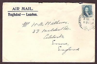 IRAQ: Airmail Cover 1931 Baghdad to London.