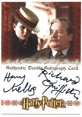 Harry Potter World Of 3D Series 1 Autograph Card Harry Melling Richard Griffiths