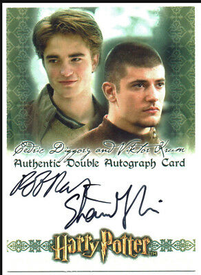 Harry Potter World Of 3D S1 Autograph Card Robert Pattinson & Stanislav Janevski