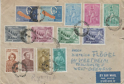 Nepal   1968 Cover To Germany