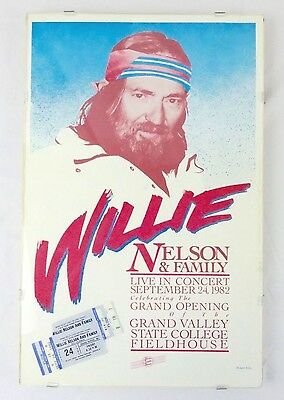 Willie Nelson 1982 Concert Poster and Tickets