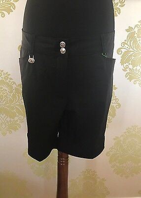 Ladies Black Golf Shorts, Daily Sport, Black, Size 18