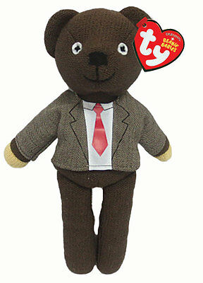 Mr Bean's Teddy jacket & tie official Beanie Baby soft toy by Ty - 25cm - 46226