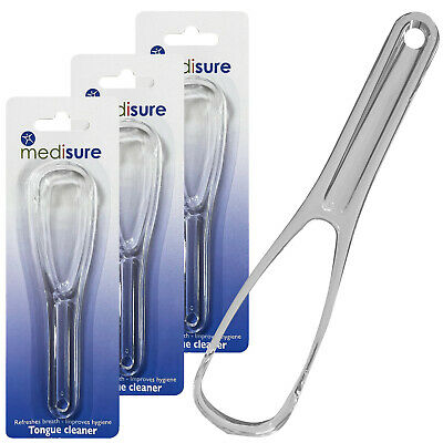 Medisure Healthcare Breath Refresh Tongue Cleaner Mouth Hygiene Scrapper x 3