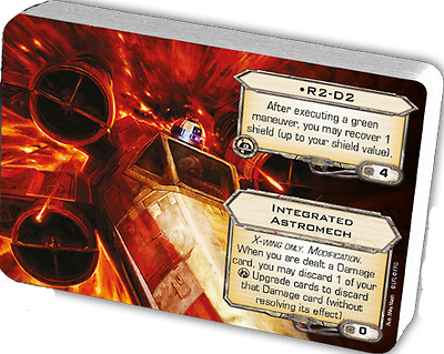 R2-D2 + Integrated Astromech X-wing promo upgrade card