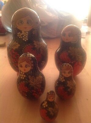 Five Piece Wooden Russian Doll Set