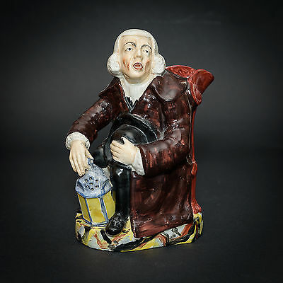 Staffordshire George Whitfield Methodist Night Watchman Toby Jug 19th Century